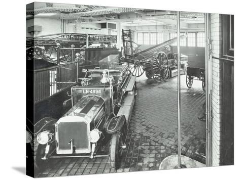 Fire Engines and Equipment at Cannon Street Fire Station, City of London, 1913--Stretched Canvas Print