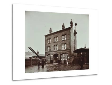 Poplar Fire Station, No 75 West India Dock Road, Poplar, London, 1905--Metal Print