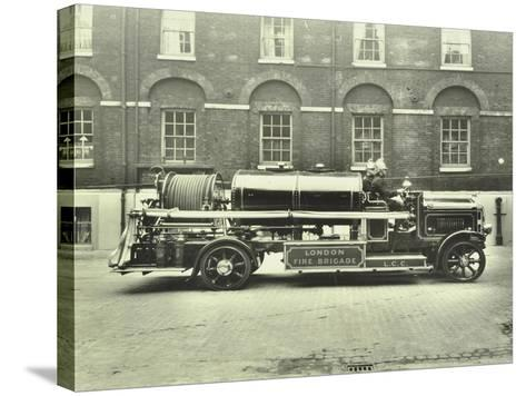 Firemen Aboard a Foam Tender, London Fire Brigade Headquarters, London, 1929--Stretched Canvas Print