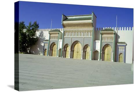 Gates of the Royal Palace, Fez, Morocco-Vivienne Sharp-Stretched Canvas Print