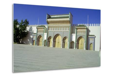 Gates of the Royal Palace, Fez, Morocco-Vivienne Sharp-Metal Print