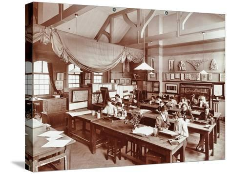 A Class at the Camberwell School of Arts and Crafts, Southwark, London, 1907--Stretched Canvas Print