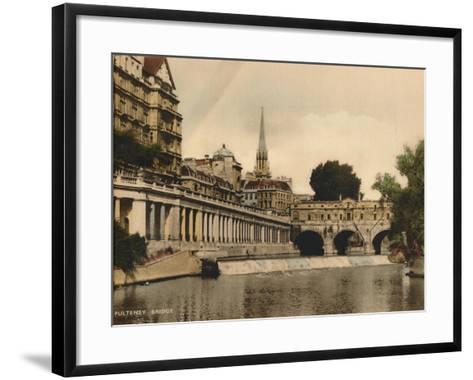 Pulteney Bridge, Bath, Somerset, C1925--Framed Art Print