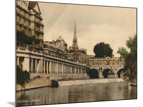 Pulteney Bridge, Bath, Somerset, C1925--Mounted Giclee Print