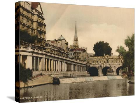 Pulteney Bridge, Bath, Somerset, C1925--Stretched Canvas Print