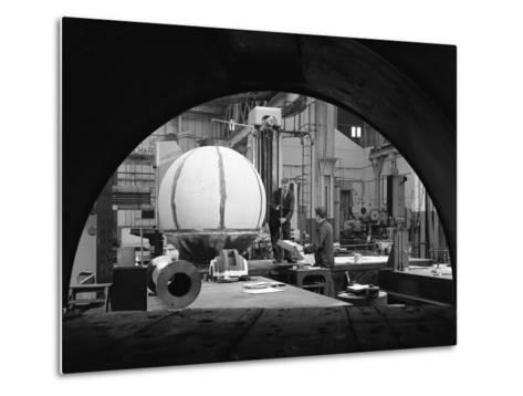 Construction of Deep Sea Inspection Chambers, Markham and Co, Chesterfield, Derbyshire, 1966-Michael Walters-Metal Print