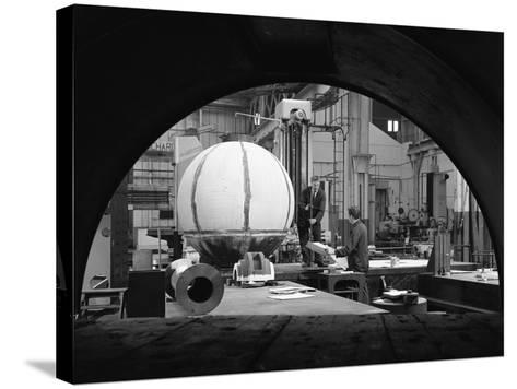 Construction of Deep Sea Inspection Chambers, Markham and Co, Chesterfield, Derbyshire, 1966-Michael Walters-Stretched Canvas Print