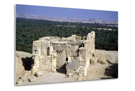 Temple of the Oracle, Siwah, Egypt-Vivienne Sharp-Metal Print