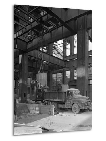 Austin Lorry on a Construction Site, Leeds, West Yorkshire, 1959-Michael Walters-Metal Print
