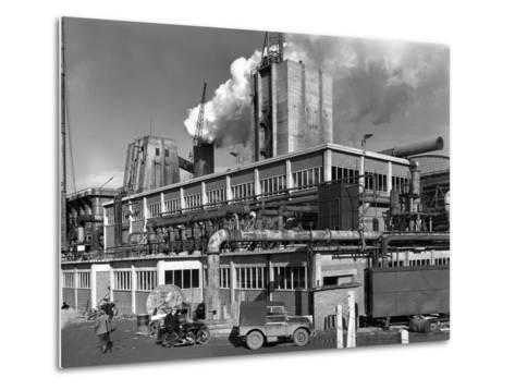 Manvers Coal Processing Plant, Wath Upon Dearne, Near Rotherham, South Yorkshire, January 1957-Michael Walters-Metal Print