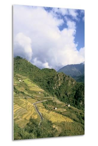 Road from Puntsholing to Paro, Bhutan-Vivienne Sharp-Metal Print