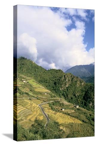 Road from Puntsholing to Paro, Bhutan-Vivienne Sharp-Stretched Canvas Print
