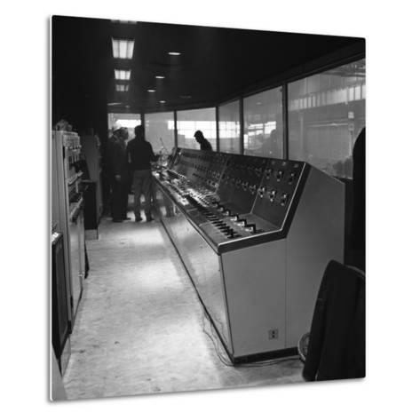 Steelworks Control Centre, Park Gate Iron and Steel Co, Rotherham, South Yorkshire, 1964-Michael Walters-Metal Print