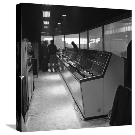 Steelworks Control Centre, Park Gate Iron and Steel Co, Rotherham, South Yorkshire, 1964-Michael Walters-Stretched Canvas Print