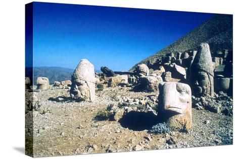 Ancient Stone Heads, Mount Nemrut, Adiyaman, Turkey-Vivienne Sharp-Stretched Canvas Print