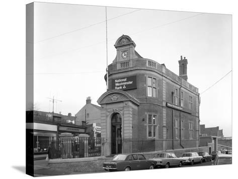 The Natwest Bank, Mexborough, South Yorkshire, 1971-Michael Walters-Stretched Canvas Print
