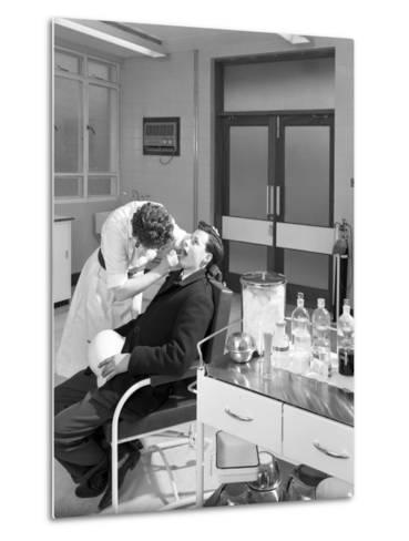Health Check in the Medical Room, Park Gate Iron and Steel Co, Rotherham, South Yorkshire, 1964-Michael Walters-Metal Print