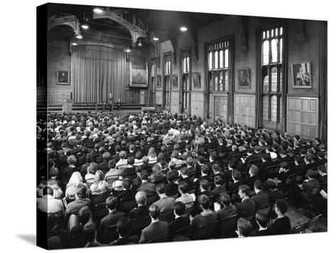 Sixth Form Conference, Sheffield University, Sheffield, South Yorkshire, 1967-Michael Walters-Stretched Canvas Print
