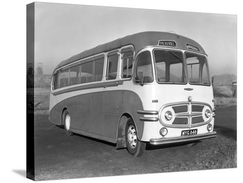 Pickerills Commer Coach, Darfield, Near Barnsley, South Yorkshire, 1957-Michael Walters-Stretched Canvas Print