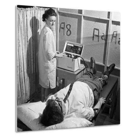 Nurse Using a Cardiopan Machine, Rotherham, South Yorkshire, 1967-Michael Walters-Metal Print