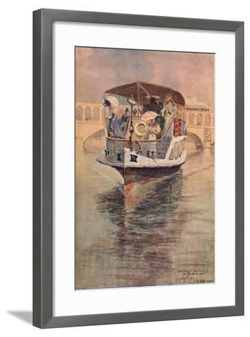 Bateau-Parisien at the Point Du Jour, 1915-Charles Jouas-Framed Art Print