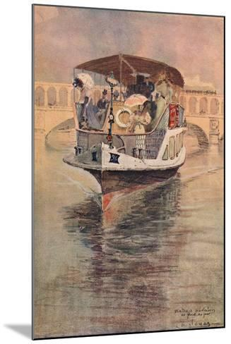 Bateau-Parisien at the Point Du Jour, 1915-Charles Jouas-Mounted Giclee Print