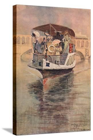 Bateau-Parisien at the Point Du Jour, 1915-Charles Jouas-Stretched Canvas Print