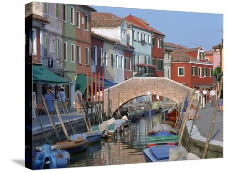 Canal, Burano, Venice, Italy-Peter Thompson-Stretched Canvas Print