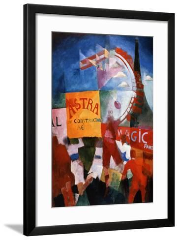 Lequipe De Cardiff, (The Cardiff Team), 1913-Robert Delaunay-Framed Art Print