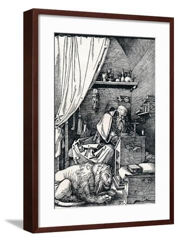St Jerome in His Cell, 1511-Albrecht D?rer-Framed Art Print