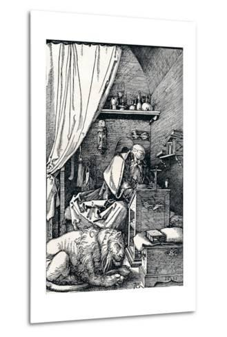 St Jerome in His Cell, 1511-Albrecht D?rer-Metal Print
