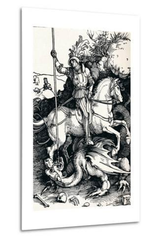 St George and the Dragon, 1505-Albrecht D?rer-Metal Print