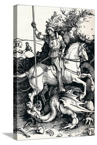 St George and the Dragon, 1505-Albrecht D?rer-Stretched Canvas Print