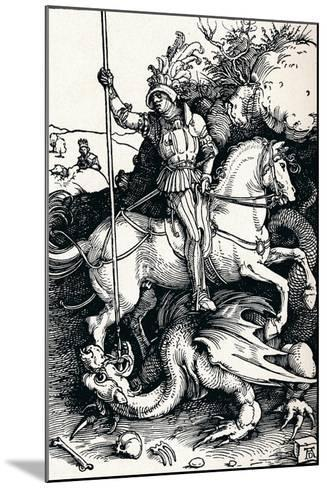 St George and the Dragon, 1505-Albrecht D?rer-Mounted Giclee Print