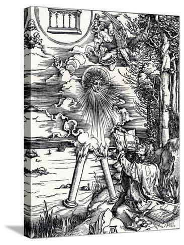 St John Devouring the Book, 1498-Albrecht D?rer-Stretched Canvas Print