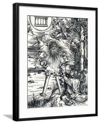 St John Devouring the Book, 1498-Albrecht D?rer-Framed Art Print