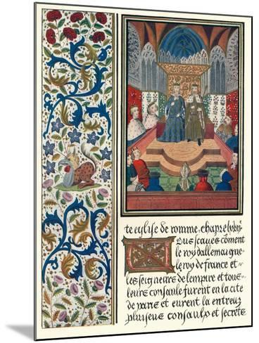 Illuminated Page, with Bordering, C1480-Jean Froissart-Mounted Giclee Print