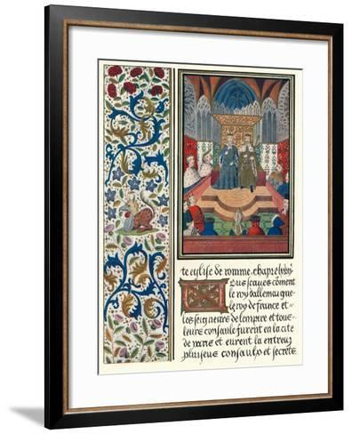 Illuminated Page, with Bordering, C1480-Jean Froissart-Framed Art Print