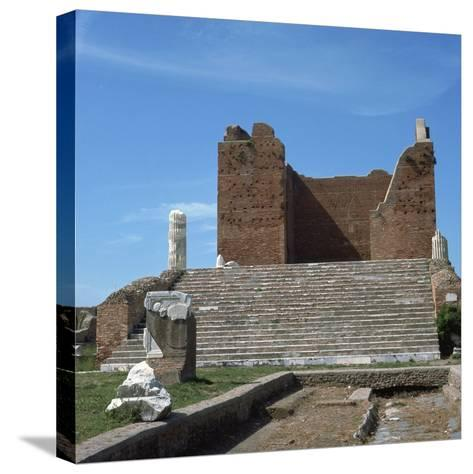 The Remains of the Capitol of Ostia, Romes Port, 2nd Century-CM Dixon-Stretched Canvas Print