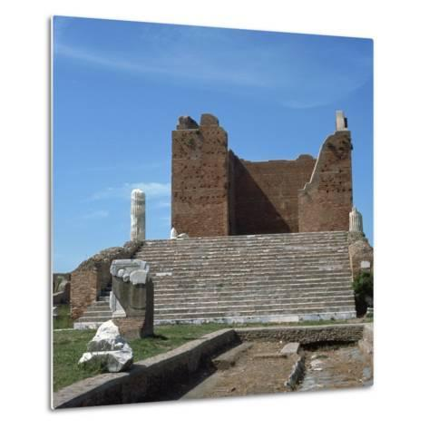 The Remains of the Capitol of Ostia, Romes Port, 2nd Century-CM Dixon-Metal Print