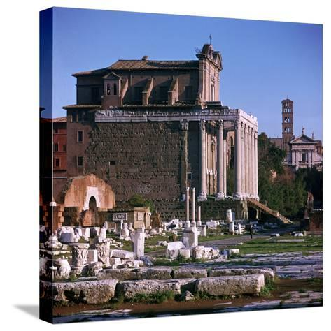 Temple of Antoninus and Faustina-CM Dixon-Stretched Canvas Print