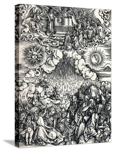 The Opening of the Fifth and Sixth Seals, 1498-Albrecht D?rer-Stretched Canvas Print