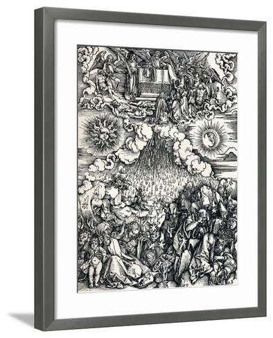 The Opening of the Fifth and Sixth Seals, 1498-Albrecht D?rer-Framed Art Print