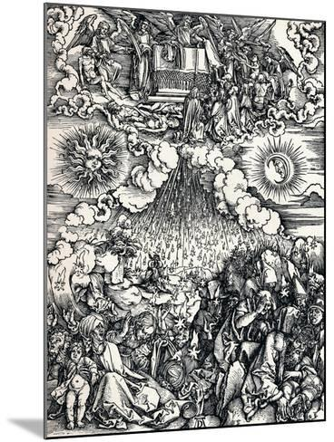 The Opening of the Fifth and Sixth Seals, 1498-Albrecht D?rer-Mounted Giclee Print