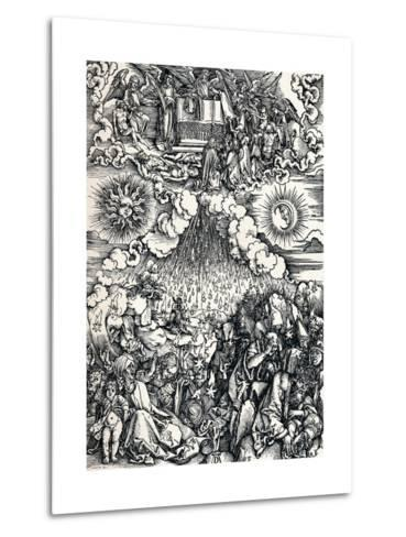 The Opening of the Fifth and Sixth Seals, 1498-Albrecht D?rer-Metal Print
