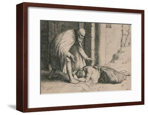 Mercy Swoons before the Gate, C1916-William Strang-Framed Art Print