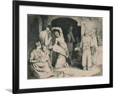 The Scourging of Faithful, C1916-William Strang-Framed Art Print