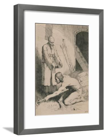 The Man with the Muckrake, C1916-William Strang-Framed Art Print