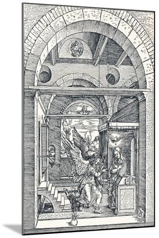 The Annuciation, 1506-Albrecht D?rer-Mounted Giclee Print