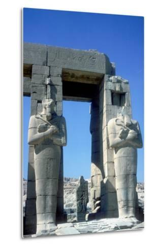 Two Statues at the Ramesseum, Temple of Rameses Ii, Luxor, Egypt, C1250 Bc-CM Dixon-Metal Print